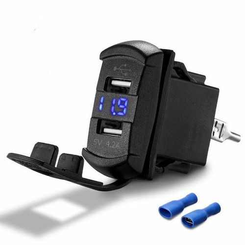Octane Dual USB Charger with Voltage Monitor