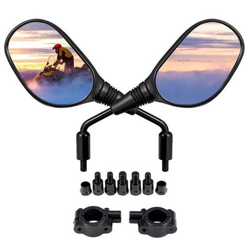 Octane Universal Handlebar Mounted Rear View Mirrors