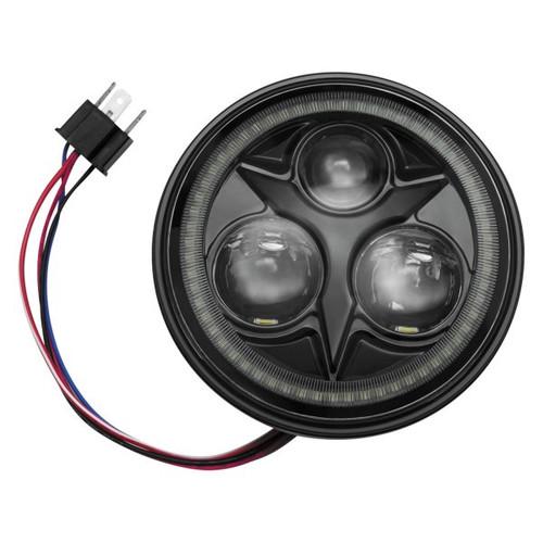 "Kuryakyn Motorcycle 5 3/4"" Orbit Vision LED Headlight with White Halo"