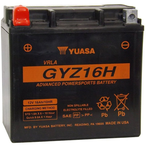 Yuasa GYZ Series Snowmobile Factory Activated Battery