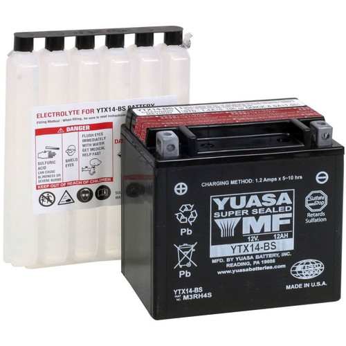Yuasa AGM Snowmobile Battery