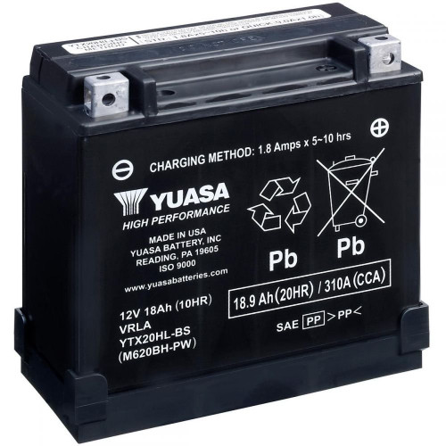 Yuasa High Performance AGM Motorcycle Battery
