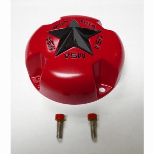 MSA Bolt-On Star Center Cap (Red)