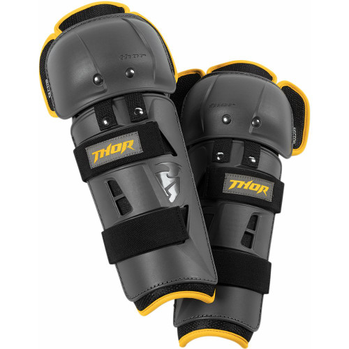 Thor Youth Sector GP Knee Guards (Charcoal/Yellow)