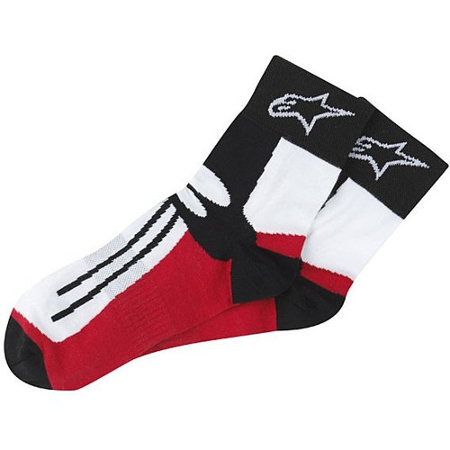 Alpinestars Racing Road Short Socks (Red/White/Black)
