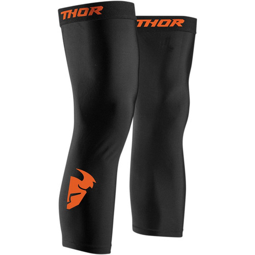 Thor Comp Knee Sleeves (Black/Red Orange)
