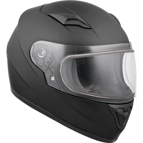 CKX Youth RR519Y Solid Snow Helmet (Matte Black)