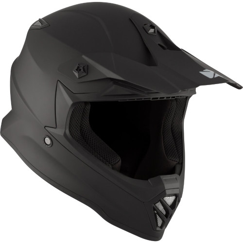 CKX Youth TX019Y Solid Helmet (Matte Black)