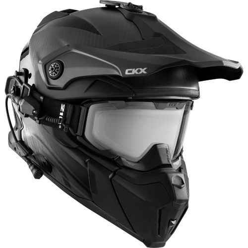 CKX Titan Electric Combo Carbon Snow Helmet (Matte Carbon)
