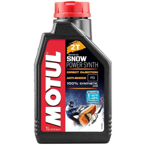 Motul Snowpower Synth 2T Synthetic Motor Oil