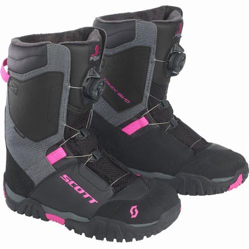 Scott Womens X-Trax Evo Boots (Black/Pink)