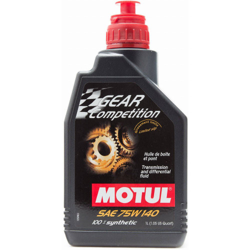 Motul Gear Competition 75W140 Synthetic Transmission Fluid