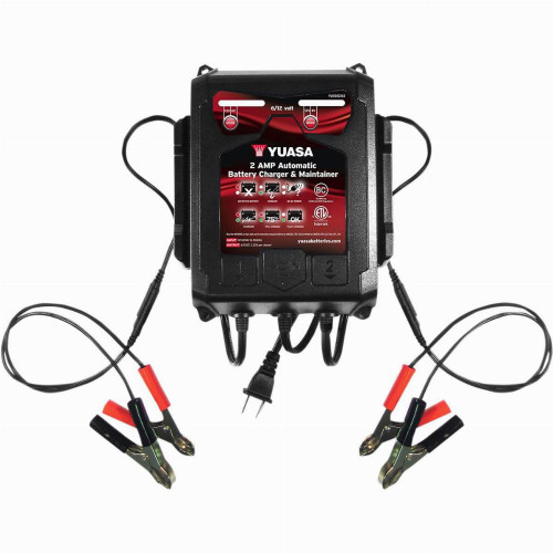 Yuasa 2 Amp Automatic Battery Charger & Maintainer
