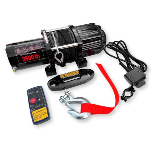 Octane Blackout 3500 lbs ATV/UTV Winch w/Synthetic Rope & Wireless Remote