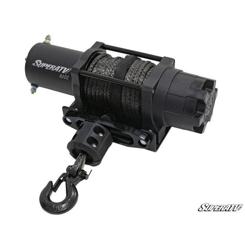 Super ATV 6000 lb. Black Ops UTV/ATV Synthetic Rope Winch