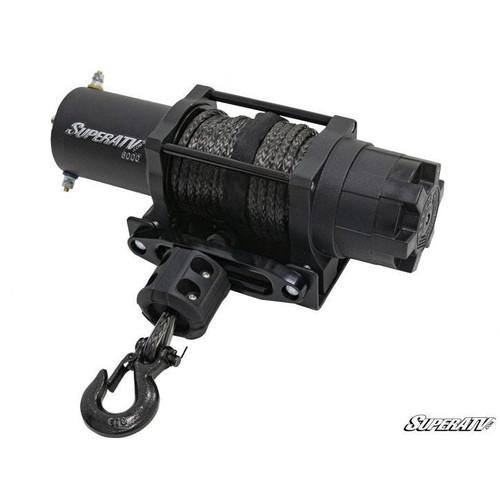 Super ATV 6000 lb. Black Ops UTV/ATV Synthetic Rope Winch