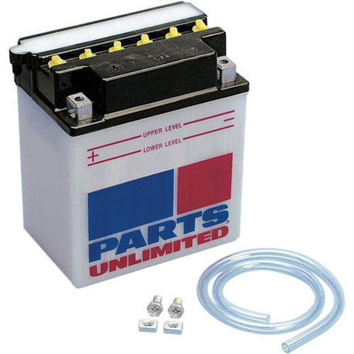 Parts Unlimited Conventional 12V Motorcycle Battery (Acid Not Included)