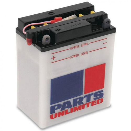 Parts Unlimited Heavy Duty Conventional Motorcycle Battery (Acid Not Included)