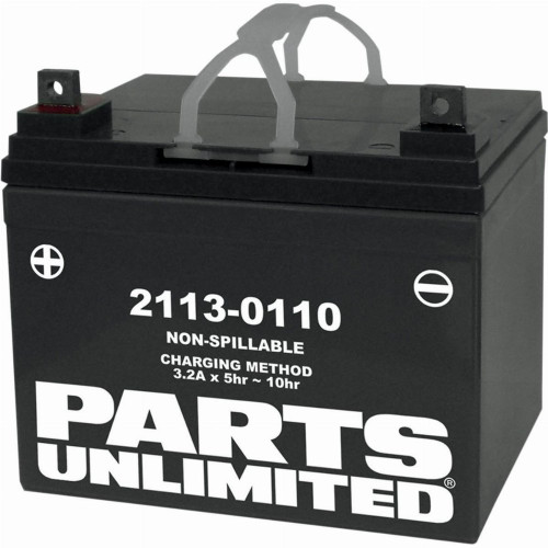Parts Unlimited Factory Activated AGM Motorcycle Battery