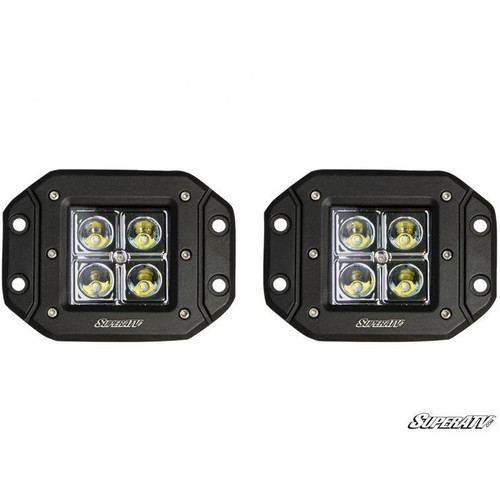 "Super ATV 3"" LED Recessed Cube Lights"