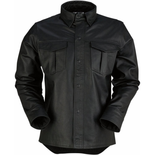 Z1R The Motz Leather Shirt (Black)