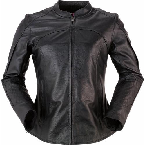 Z1R Womens 35 Special Leather Jacket (Black)