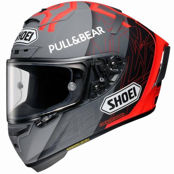 Shoei X-14 Marquez Black Concept 2.0 Helmet (Red/Grey)