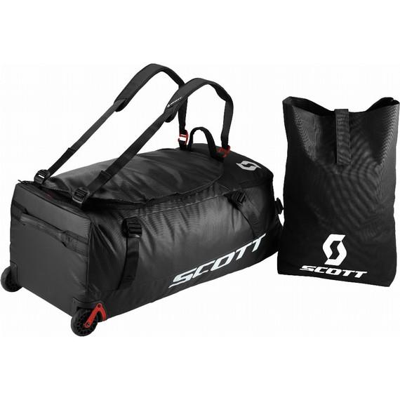 Scott Wheel Duffel 110 Bag (Black/Red Clay)
