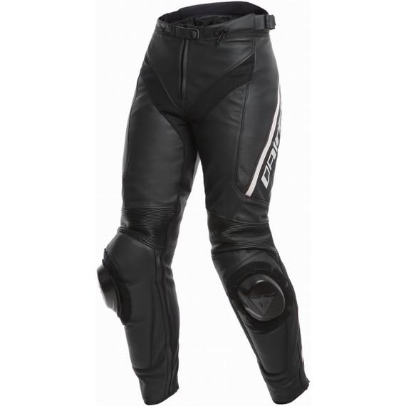 Dainese Womens Delta 3 Leather Pants (Black/Black/White)