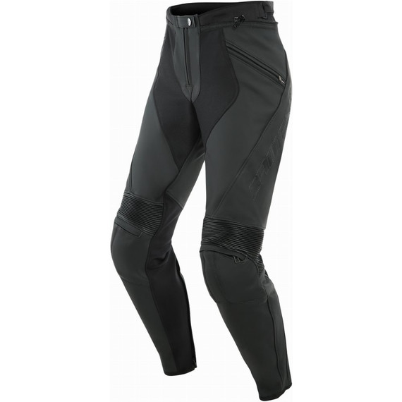 Dainese Womens Pony 3 Leather Pants (Matte Black)