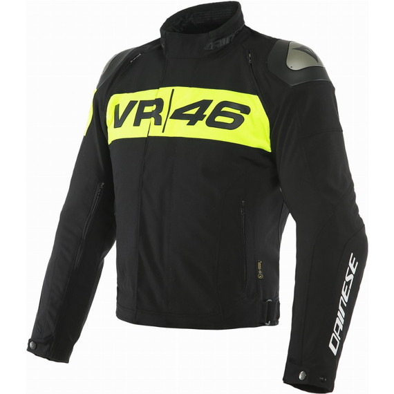 Dainese VR46 Podium D-Dry Jacket (Black/Fluo Yellow)
