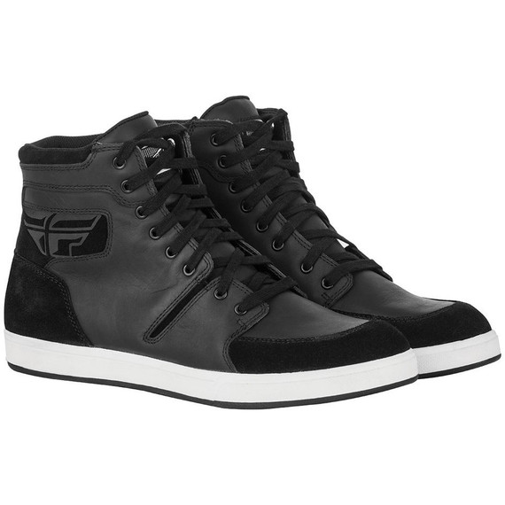 Fly Racing M16 Leather Waterproof Shoes (Black)