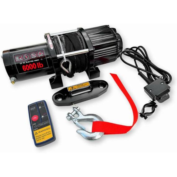 Octane Blackout 6000 lbs UTV Winch w/Synthetic Rope & Wireless Remote