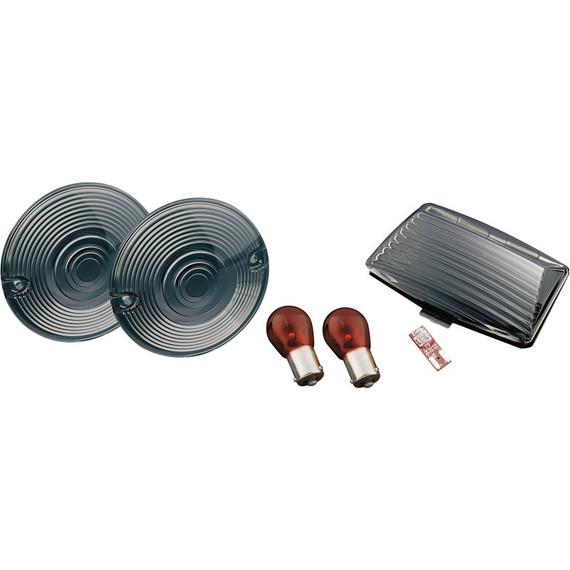 Kuryakyn Smoke Turn Signal/Fender Tip Lens Kit for Harley Davidson