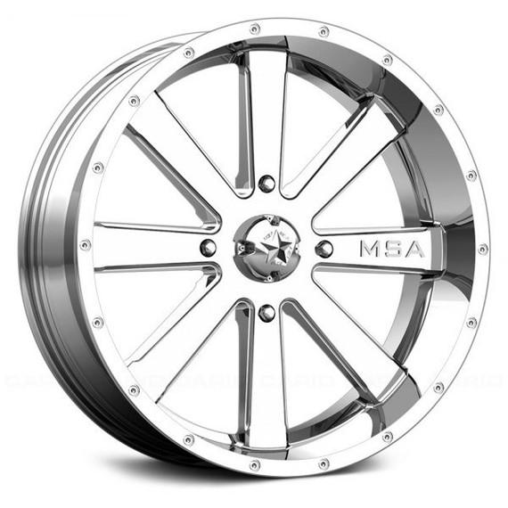 MSA M34 Flash ATV/UTV Chrome Wheel