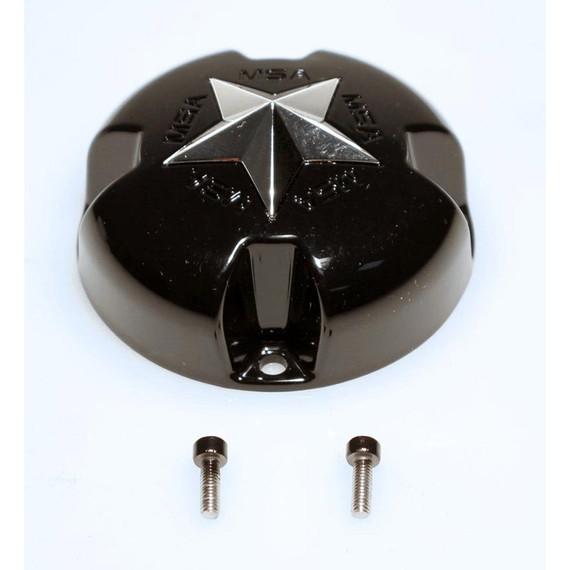 MSA Bolt-On Star Center Cap (Glosse Black)