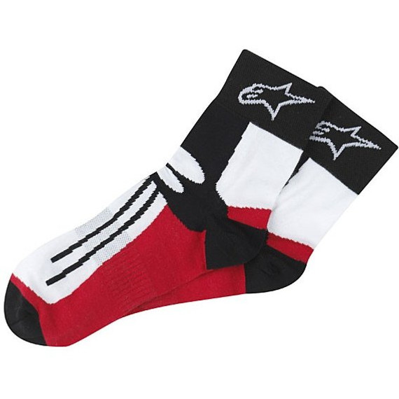 Alpinestars Racing Road Short Socks (Red/White/Black)