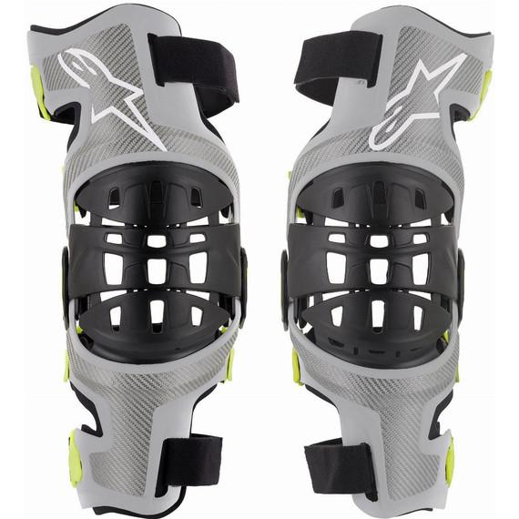 Alpinestars Bionic-7 Knee Braces (Grey/Fluo Yellow)
