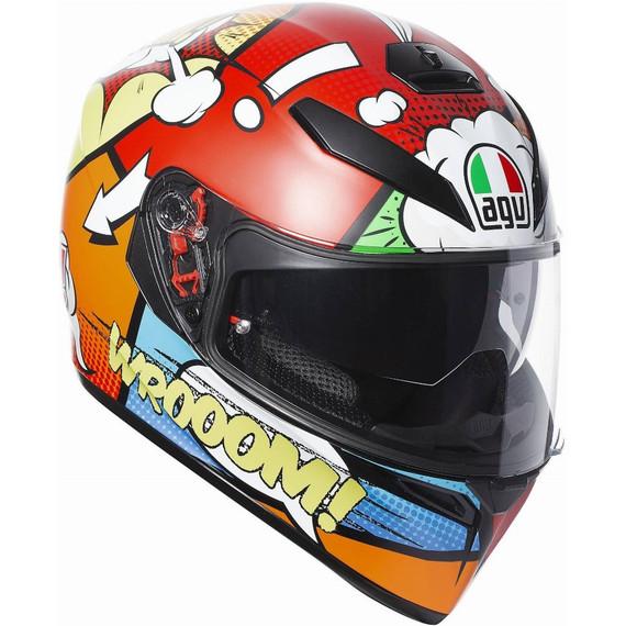 AGV K3 SV Balloon Helmet (Red/White/Orange)