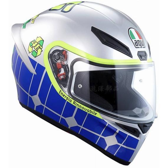 AGV K1 Rossi Mugello 2015 Helmet (Silver/Blue/Yellow)