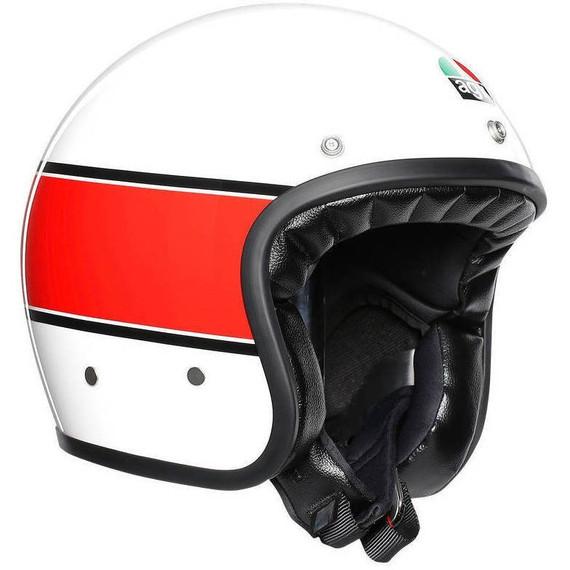 AGV X70 Mino 73 Helmet (White/Red)