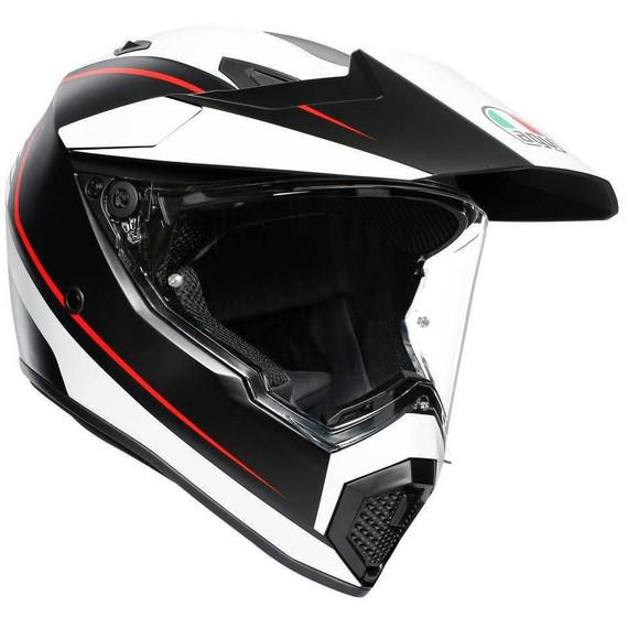 AGV AX9 Pacific Road Helmet (Black/White/Red)