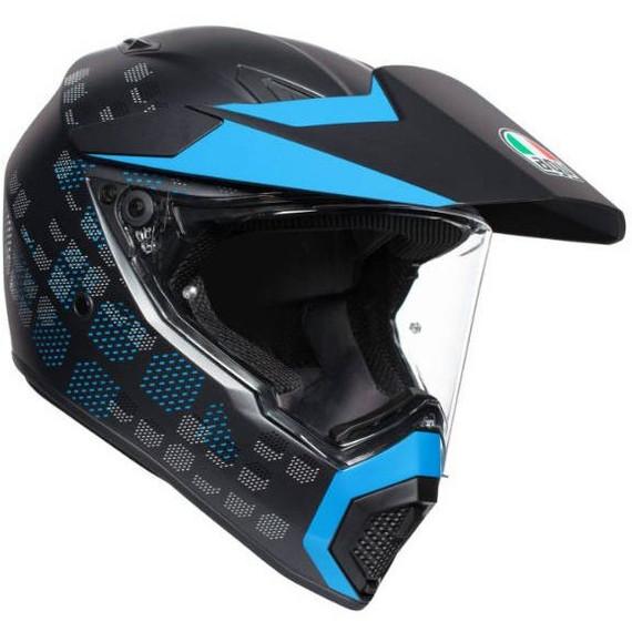 AGV AX9 Antartica Helmet (Matte Black/Cyan)