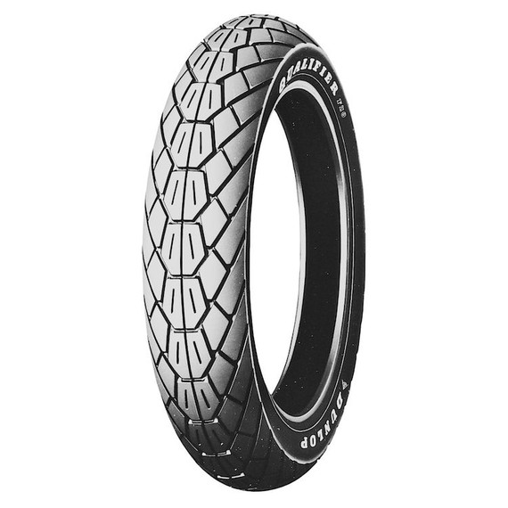 Dunlop F20 White Letter Front Tire