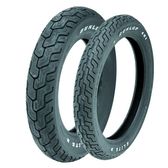 Dunlop 491 Elite II White Letter Tire