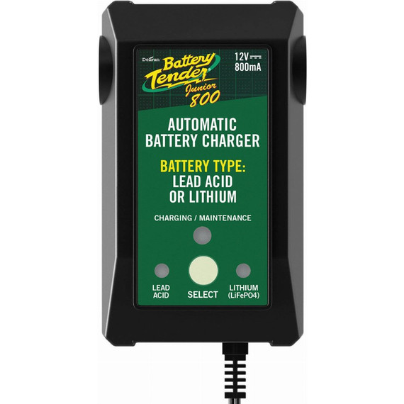 Battery Tender Junior 800 12V .80A Lead Acid/Lithium Charger