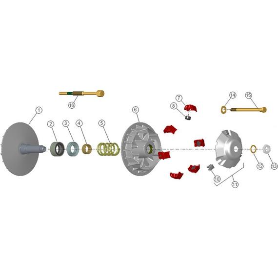 CVTech Trailbloc Clutch Replacement Parts