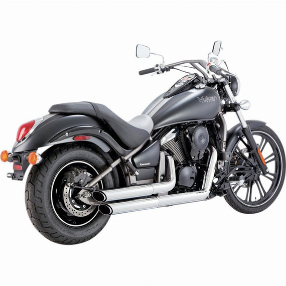 Vance and Hines Twin Slash Staggered Motorcycle Exhaust System