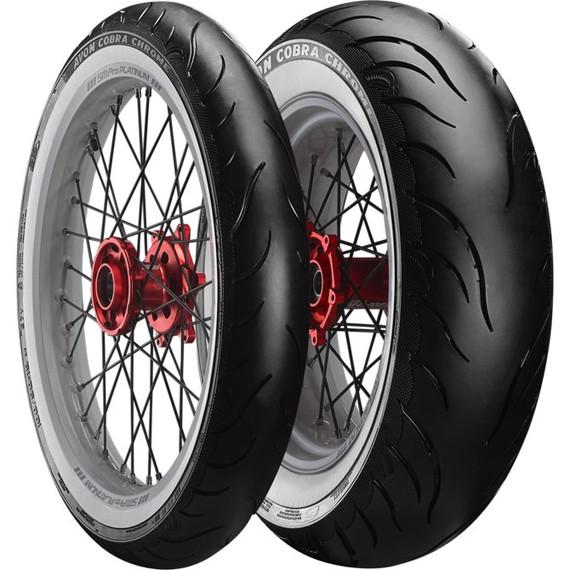 Avon AV91/AV92 Cobra Chrome Whitewall Tire