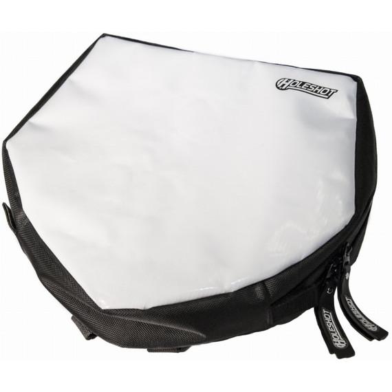 Holeshot Number Plate Bag (Black/White)